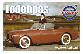 Ledenpas 2017 Volvo Klassieker Vereniging