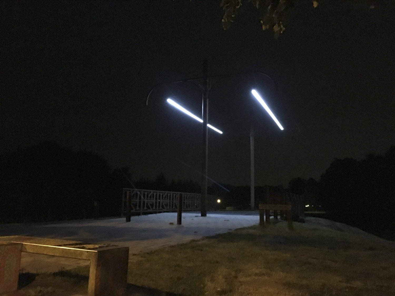 Project Trambrug Bennebroek nacht