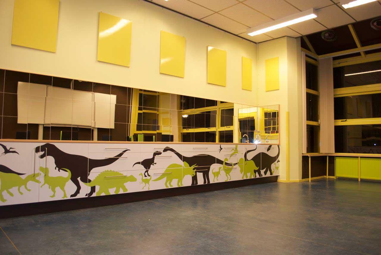 Dino klas inrichting Bekenkampschool, Groningen