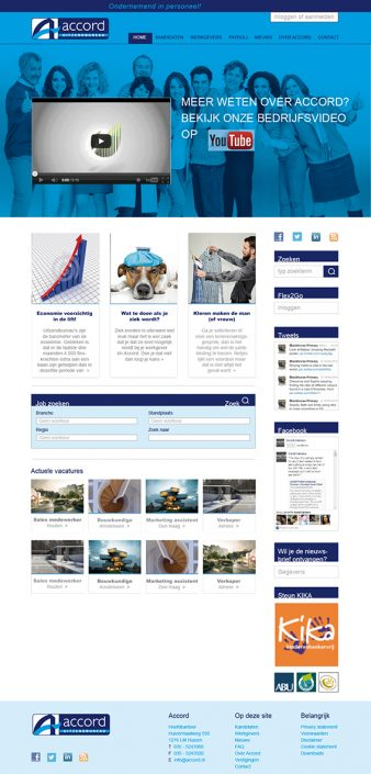 Ontwerp website Accord