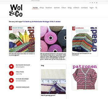 Website en webshop Wol & Co