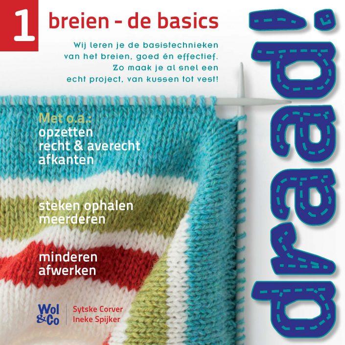 Cover Draad! 1 breien: de basics